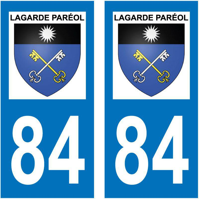 Sticker Plaque Lagarde-Paréol 84290
