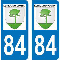 Sticker Plaque Loriol-du-Comtat 84870