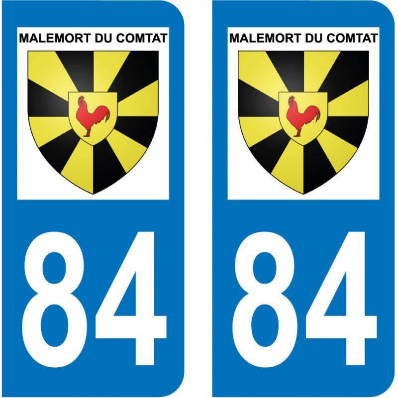 Sticker Plaque Malemort-du-Comtat 84570