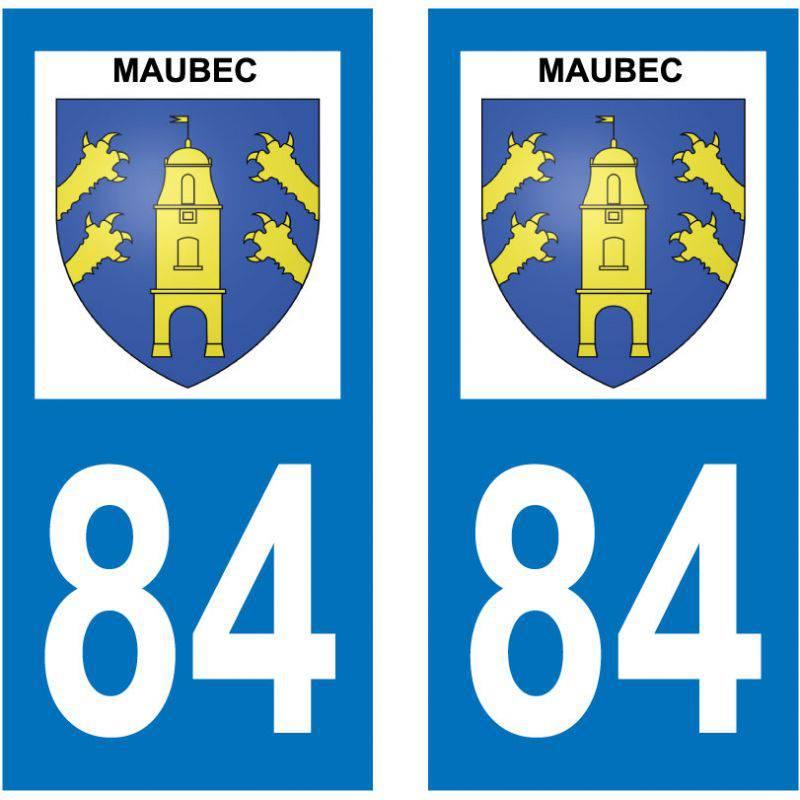 Sticker Plaque Maubec 84660