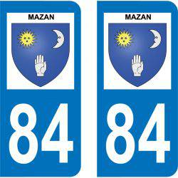 Sticker Plaque Mazan 84380