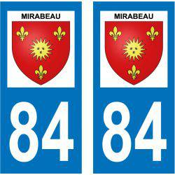 Sticker Plaque Mirabeau 84120