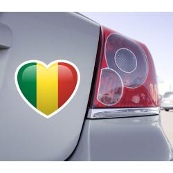 Sticker Love Drapeau Mali