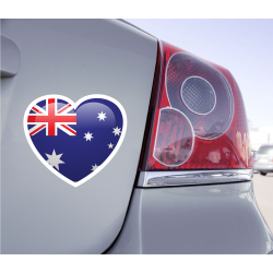 Sticker Love Drapeau Australie