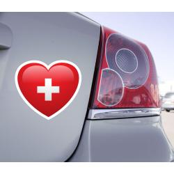 Sticker Love Drapeau Suisse - 1