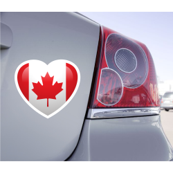 Sticker Love Drapeau Canada