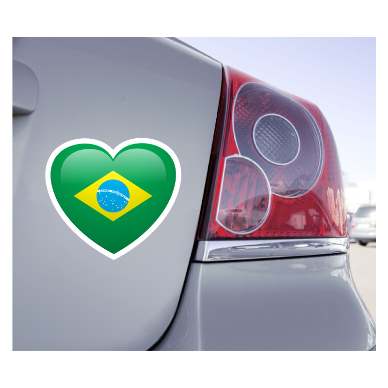 Sticker Love Drapeau Brésil - 1