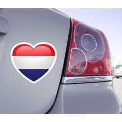 Sticker Love Drapeau Pays-Bas