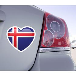 Sticker Love Drapeau Islande - 1
