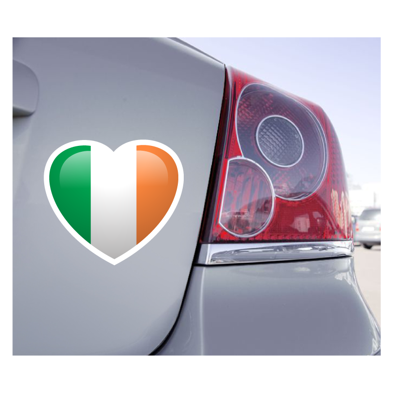 Sticker Love Drapeau Irlande - 1