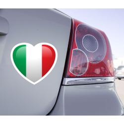 Sticker Love Drapeau Italie - 1