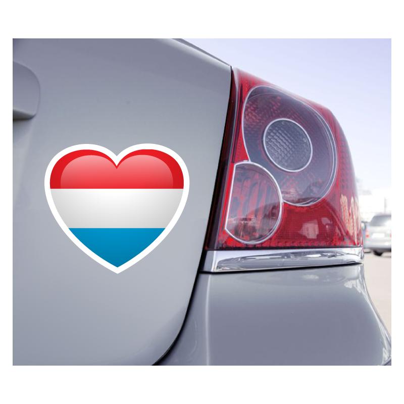 Sticker Love Drapeau Luxembourg - 1