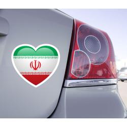 Sticker Love Drapeau Iran - 1