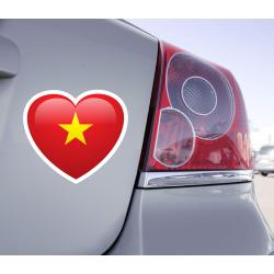 Sticker Love Drapeau Viêt Nam - 1