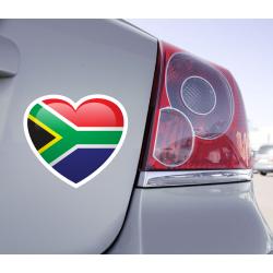 Sticker Love Drapeau Afrique du Sud - 1