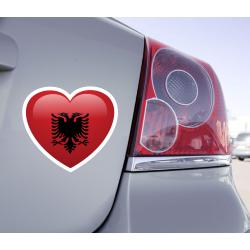 Sticker Love Drapeau Albanie - 1