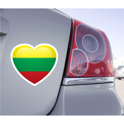 Sticker Love Drapeau Lituanie