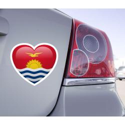 Sticker Love Drapeau Kiribati - 1