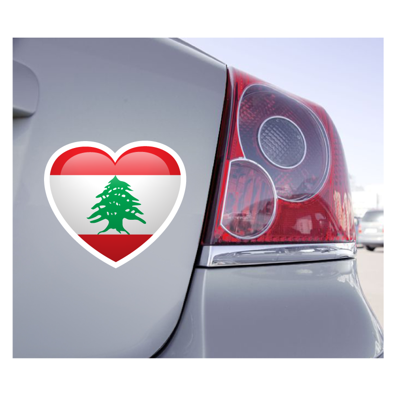Sticker Love Drapeau Liban - 1