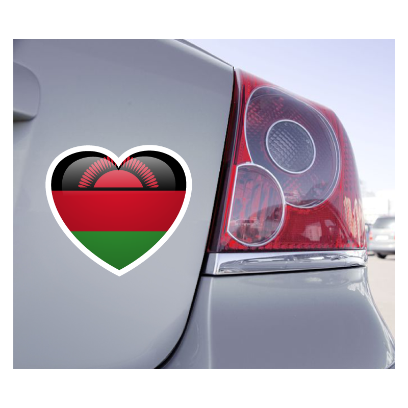 Sticker Love Drapeau Malawi - 1