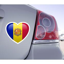 Sticker Love Drapeau Andorre - 1