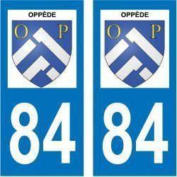 Sticker Plaque Oppède 84580
