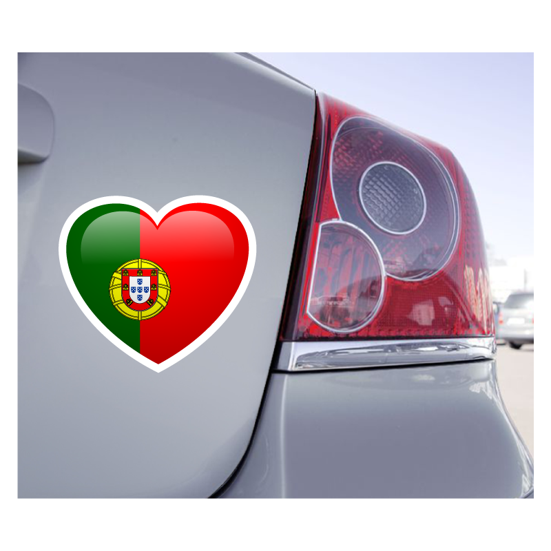 Sticker Love Drapeau Portugal - 1