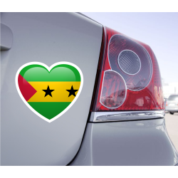 Sticker Love Drapeau Sao Tomé-et-Principe - 1