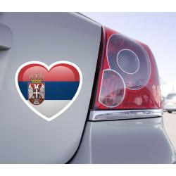 Sticker Love Drapeau Serbie - 1