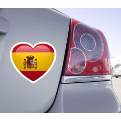 Sticker Love Drapeau Espagne - 1