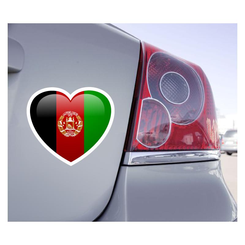 Sticker Love Drapeau Afghanistan - 1