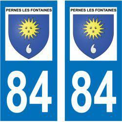 Sticker Plaque Pernes-les-Fontaines 84210
