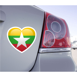 Sticker Love Drapeau Birmanie