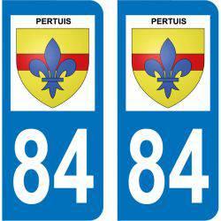 Sticker Plaque Pertuis 84120