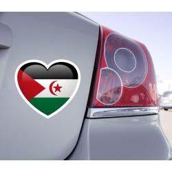 Sticker Love Drapeau République arabe sahraouie démocratique - 1