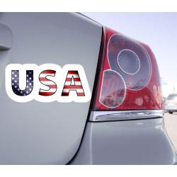 Sticker Lettrage USA