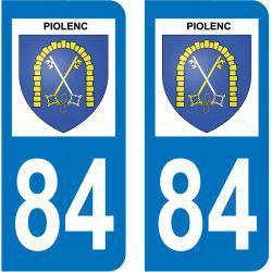 Sticker Plaque Piolenc 84420