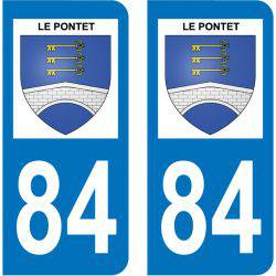 Sticker Plaque Le Pontet 84130