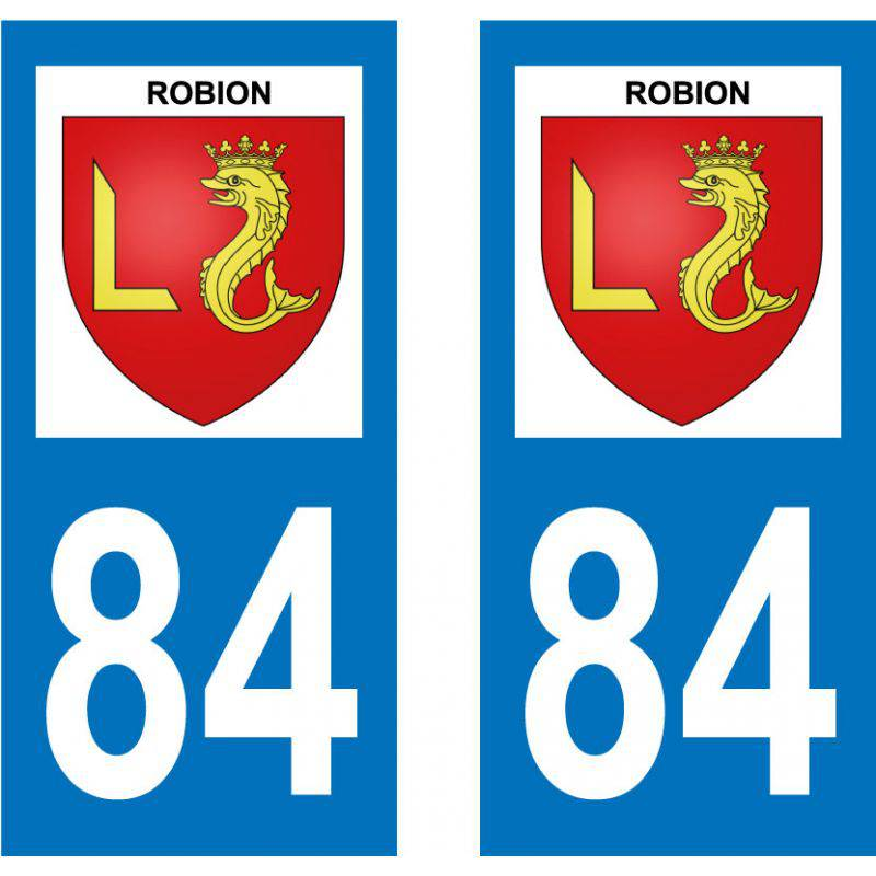 Sticker Plaque Robion 84440
