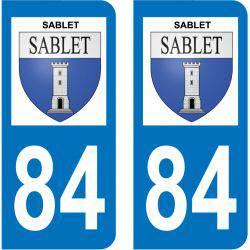 Sticker Plaque Sablet 84110