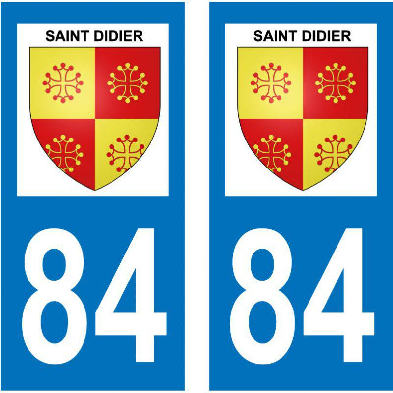 Sticker Plaque Saint-Didier 84210