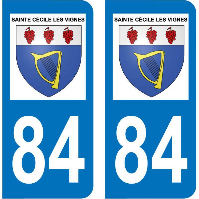 Sticker Plaque Sainte-Cécile-les-Vignes 84290