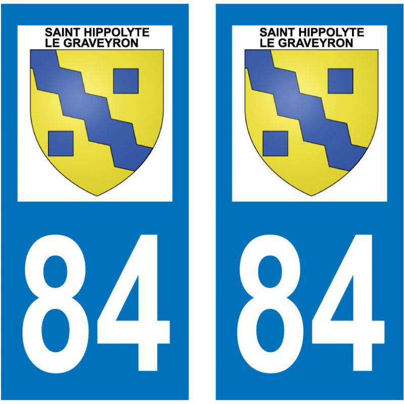 Sticker Plaque Saint-Hippolyte-le-Graveyron 84330