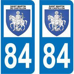 Sticker Plaque Saint-Martin-de-Castillon 84750