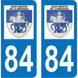 Sticker Plaque Saint-Martin-de-la-Brasque 84760