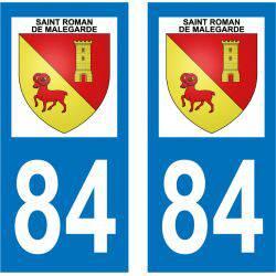 Sticker Plaque Saint-Roman-de-Malegarde 84290