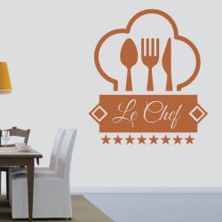 Sticker Mural Cuisine Le Chef