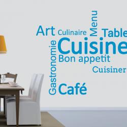 Sticker Mural Cuisine Art...