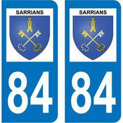 Sticker Plaque Sarrians 84260