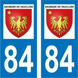 Sticker Plaque Saumane-de-Vaucluse 84800